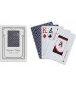 Poker karte Easy 100% plastic, jumbo index, modre