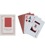 Poker karte Easy 100% plastic, jumbo index, rdeče