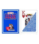 Poker karte Modiano 100% plastic, jumbo index, modre
